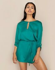 BNWT Authentic Rare Sexy Agent Provocateur Bells Shirt Top Silk Tunic Robe Teal
