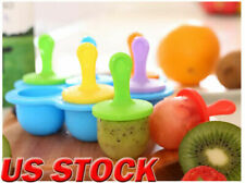 DIY Silicone Popsicle Molds Frozen Sucker Mould Tray Ice Cream Cake Maker Tools