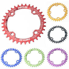 104mm BCD Round/Oval Alloy Chainring Bike Chainwheel Narrow Wide 32/34/36/38T