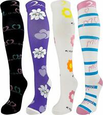 4 Pair Large/X-Large Extra Soft Premium Quality Colorful Compression Socks