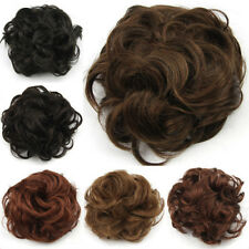 4colors Women Curly Hair Bun Clip In Hair Pieces Chignon Hairpiece Extension