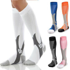 Mens Womens Leg Support Stretch Compression Socks Performance Running Sports