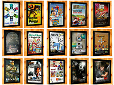 Video Games Poster Collection Vintage Poster Ad Art Print Promo Advertising Rare