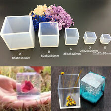 DIY Silicone Pendant Mold Jewelry Making Cube Resin Casting Mould Craft Tool PYB
