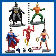 DC COMICS JUSTICE LEAGUE FIGURES CEILING FAN PULLS (CHOICE OF 2) SUPERMAN, ETC..
