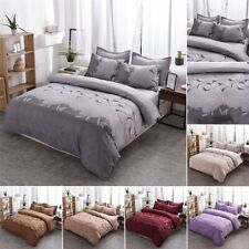 3Pcs Duvet Cover Bedding Sets Solid Polyester Quilt Cover Twin/Full/Queen/King