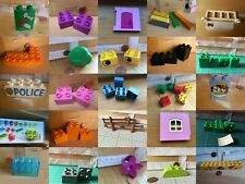 Used Lego Duplo Spares Building Blocks// plates picture bricks 2x42X2 2x8 Fence