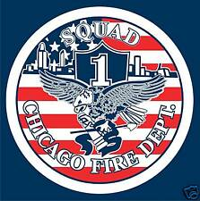CHICAGO FIRE DEPARTMENT SQUAD 1 T-SHIRT, FIREFIGHTER
