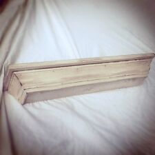 DISTRESSED CORNICE WOOD WALL SHELF/MULTI COLORS +SIZES custom available