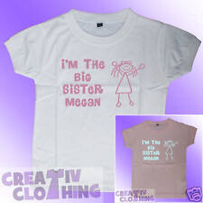 Toddler Girls T Shirt - I'm The Big Sister PERSONALISED