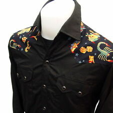WESTERN CowBoy RockaBilly Skull & Tattoo VTG Punk Shirt