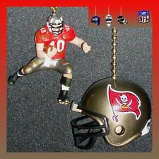 NFL TAMPA BAY BUCCANEERS RUNNING BACK FIGURE & FOOTBALL HELMET CEILING FAN PULLS