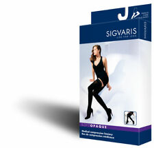 Sigvaris 841N Soft Opaque 15-20 Closed Toe Thigh High