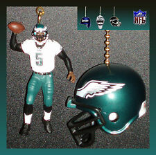 NFL PHILADELPHIA EAGLES MCNABB FIGURE IN WHITE & RIDDELL HELMET CEILING FAN PULL