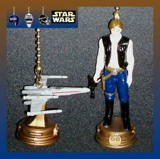 STAR WARS REBEL ALLIANCE FIGURE & X-WING FIGHTER CEILING FAN PULLS-LUKE, ETC...