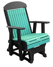 Luxcraft Poly 2' Classic Highback Outdoor Porch Glider