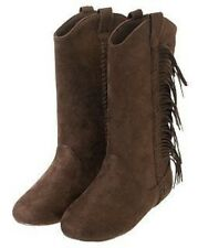 GYMBOREE COWGIRLS AT HEART BROWN FRINGE SUEDE BOOTS 10 11 12 13 1 2 NWT