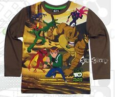 Boys Ben 10 Alien Force Long Sleeve Top Ages 4-10 Years