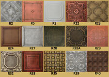 Tin-Look, Faux Ceiling Tiles 20x20  Different Colors
