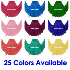 25 Color 4 Tier Skirt Belly Dance Costume Gypsy Tribal Boho Flamenco Tiered Club