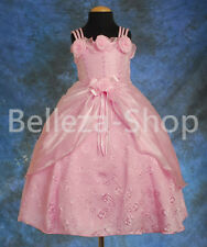 Occasion Birthday Wedding Flower Girls Party Pageant Dress Up Size 12m-4T FG049
