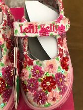 Lelli Kelly PRIMULA Red Pink Mary Janes Dolly Shoes LK White Velcro Flowers NEW