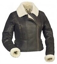 GENUINE LADIES SHEEPSKIN LEATHER AVIATOR FLYING JACKETS