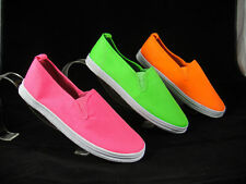 Raben Shoes Canvas Slip On - F.Green - F.Orange - F.Pink - Size from 30 to 47