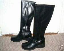 NEW PREDICTIONS WOMEN'S TALL BLACK STRETCH WEDGE BOOTS 12M 12W 13W