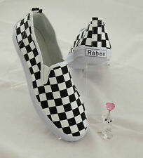 Raben Shoes Canvas Slip On - Large Checker - All Size Euro 24 to 46