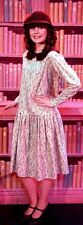 """1920's Bugsy Malone """"BLOUSEY"""" Floral Dress Sizes 8-22"""