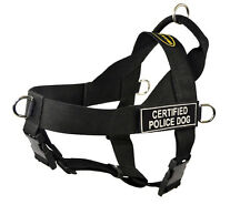 No Pull Dog Harness with Patches CERTIFIED POLICE DOG