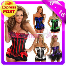 New Busiter Boned Lace up corset skirt S M L XL 2XL