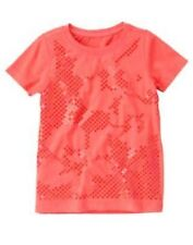 GYMBOREE BURST OF SPRING CORAL SEQUIN SPARKLE S/S TEE 4 5 6 7 8 9 NWT