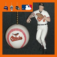 MLB BALTIMORE ORIOLES RIPKEN JR. FIGURE & HELMET OR LOGO BASEBALL FAN PULLS
