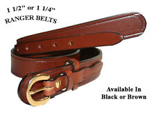 "1 1/2"" WIDE AMISH HAND MADE RANGER BELTS - 3 STYLES"
