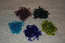 Purple Blue Green Turquoise or Multi-Color 6/0 glass seed beads 15 grams 0.5 oz