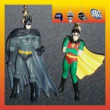 DC COMICS SUPERHEROES FIGURES–SUPERMAN & WONDER WOMAN OR BATMAN & ROBIN FAN PULL