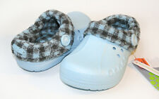 US  Crocs Kids Plaid Blitzen Sky Blue C6/7 C8/9 C10/11 C12/13 J1 J2 J3