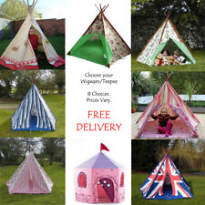 WIGWAM TENTS TEEPEE, CHILDRENS PLAY TENTS GARDEN TOYS