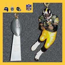 NFL PITTSBURGH STEELERS BETTIS/ROETHLISBERGER FIGURE & HELMET/TROPHY FAN PULLS