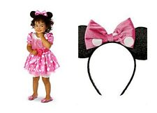 Disney Store Minnie Mouse Clubhouse Pink Dress Costume Halloween NEW sizes