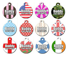 Double Sided Cool Cute Personalised Pet Dog Name ID Identity Tags -Engraved FREE