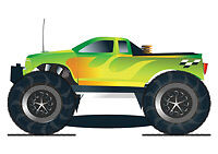 Remote Control Monster Truck Cool Trendy Car T-Shirt Tee New