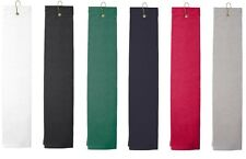 Towels Plus Tri-Fold Golf Hand Towel w/ Hook, Cotton In 6 Colors (T68TH)