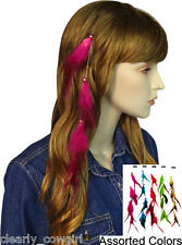 #6062 -- WESTERN COWGIRL BEADED FEATHER HAIR COMB EXTENSIONS -WOW!