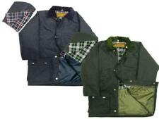 New Childrens British Quilted Wax Rain Jacket / Coat - Outdoor Wear Age: 7-14