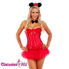 New Women Mickey Mouse Costume Deluxe Halloween Corset Fancy Dress Costume S-XL