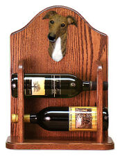 Greyhound Dog Breed Portrait Wine Racks Home-Bar Decor. Decorative Wood Products