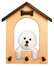 Bichon Frise Dog House Leash Holder. In Home Wall Decor Wood Products & Gifts.